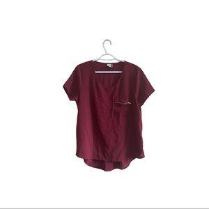 Paper Crane side zipper blouse